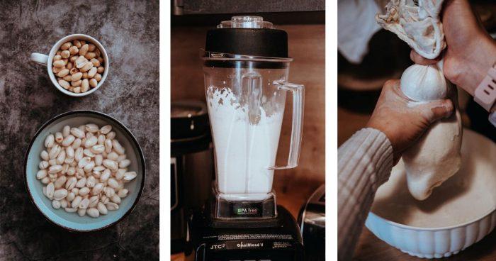 Postup výroby arašídového mléka